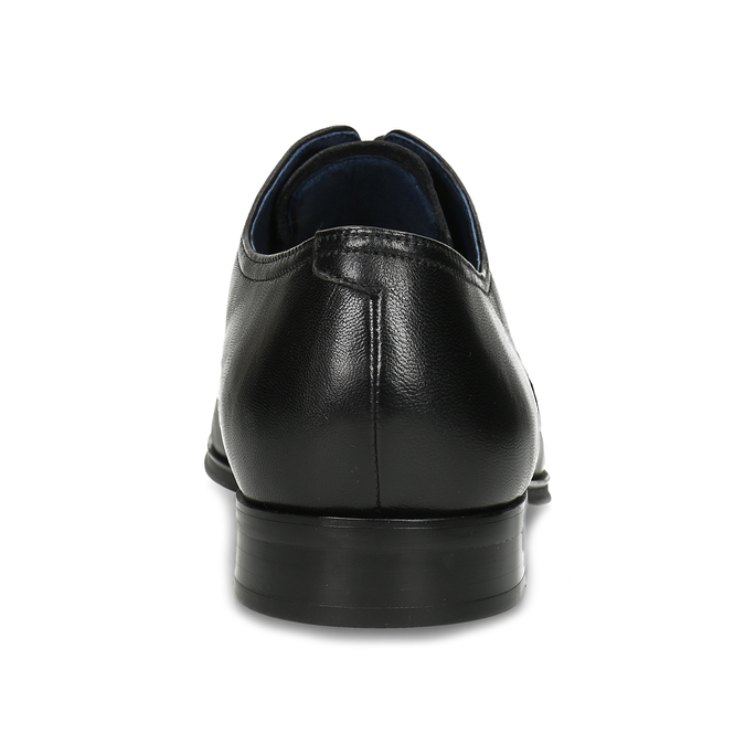 Skórzane półbuty męskie typu angielki bata, czarny, 824-6406 - 15