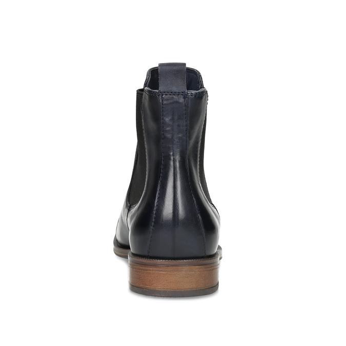 Skórzane botki damskie typu chelsea bata, czarny, 594-9636 - 15