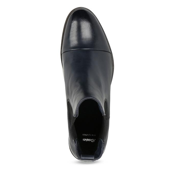 Skórzane botki damskie typu chelsea bata, czarny, 594-9636 - 17