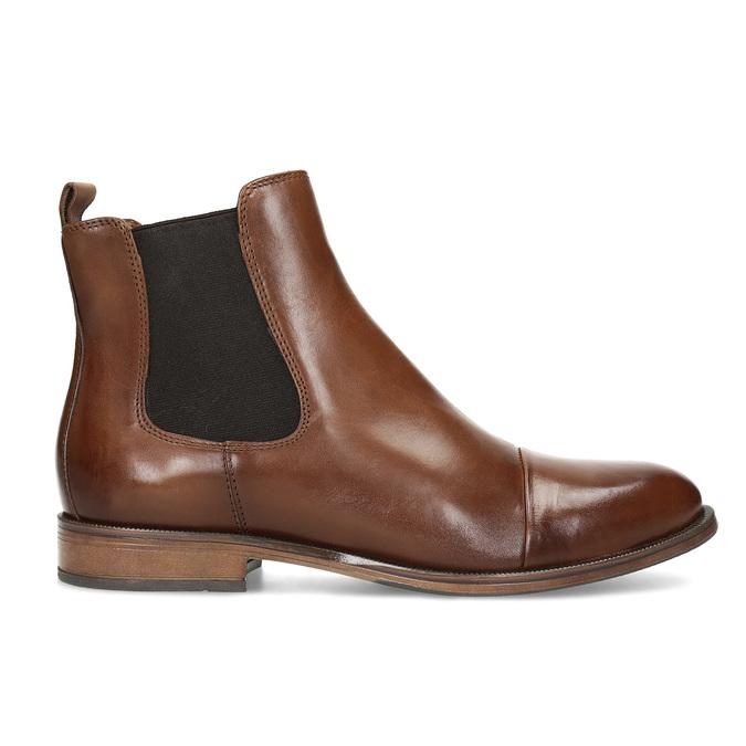 Brązowe skórzane obuwie damskie typu chelsea bata, brązowy, 594-4636 - 19