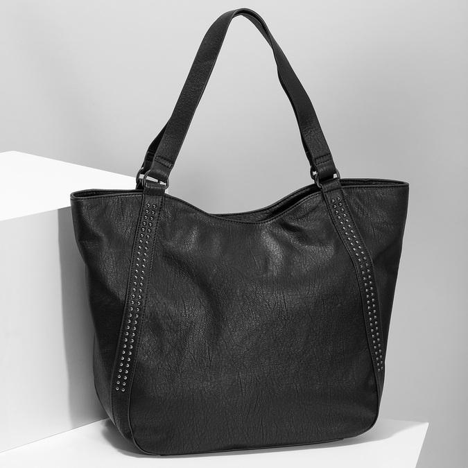 Czarna torebka damska zpasami bata, czarny, 961-6787 - 17