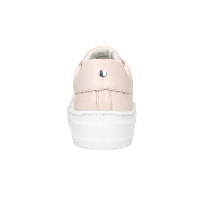 Skórzane trampki damskie bata, różowy, 526-5641 - 16