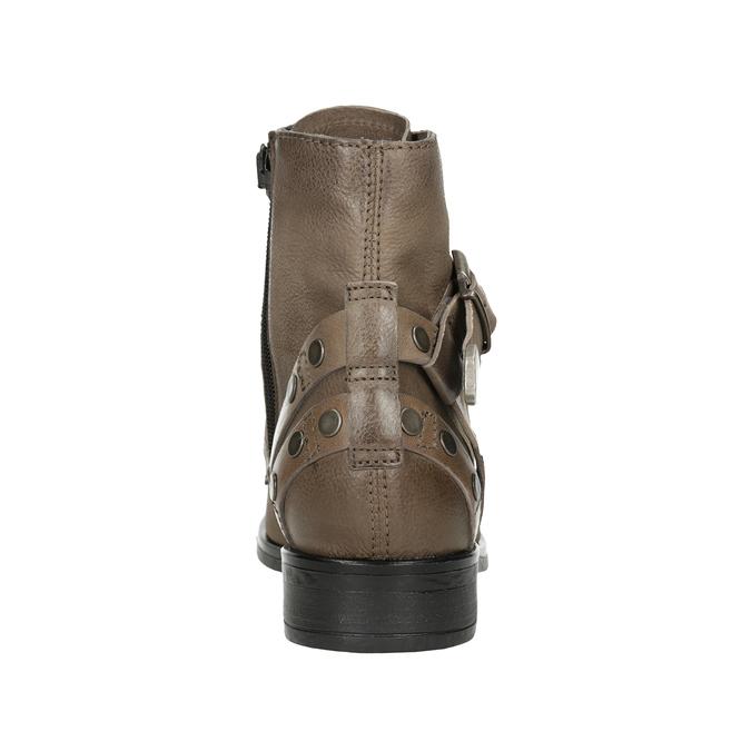 Botki damskie zklamrami bata, brązowy, 596-4661 - 16