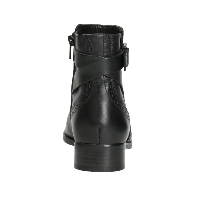 Buty ze skóry za kostkę ze zdobieniem clarks, czarny, 614-6027 - 16