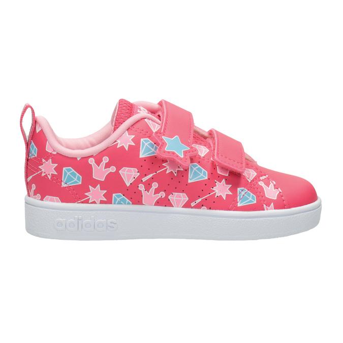 Dziewczęce trampki z nadrukiem adidas, różowy, 101-5533 - 26