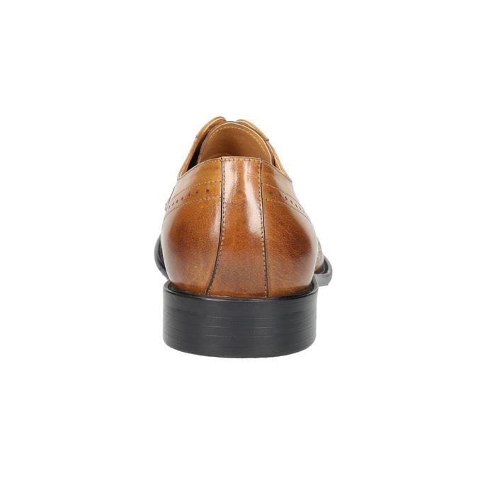 Skórzane półbuty męskie ze zdobieniami brogue bata, brązowy, 824-3227 - 17