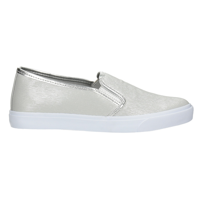 Srebrne slip-on damskie north-star, srebrny, 511-1605 - 26