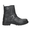 Buty skórzane za kostkę dla dzieci, czarny, 496-9015 - 26