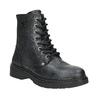 Dziecięce sznurowane buty ze skóry bullboxer, czarny, 496-6016 - 13