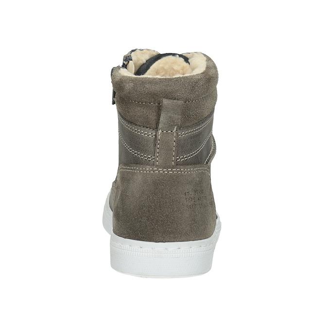Dziecięce buty ze skóry za kostkę bullboxer, szary, 494-8023 - 16