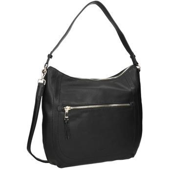 Czarna torebka damska z paskiem gabor-bags, czarny, 961-6061 - 13