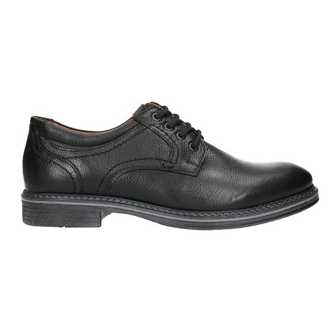 Skórzane półbuty męskie typu angielki bata, czarny, 824-6926 - 15