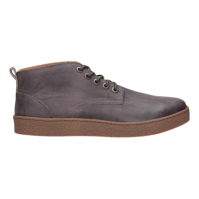 Skórzane buty męskie za kostkę bata, brązowy, 846-4652 - 26