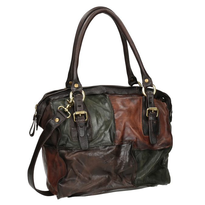 Skórzana torba patchworkowa a-s-98, multi color, 966-0062 - 13