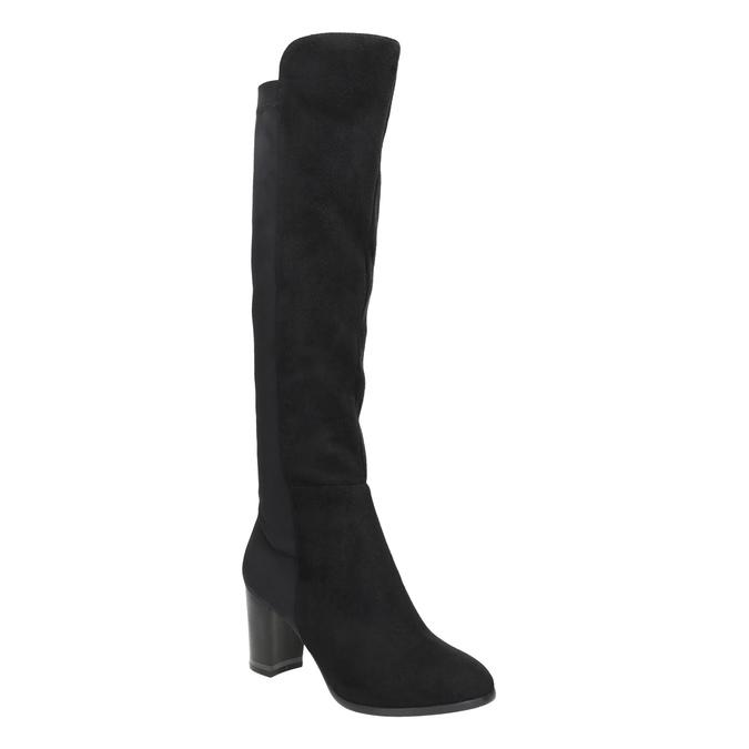 Kozaki zelastyczną cholewką bata, czarny, 699-6635 - 13