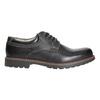 Skórzane półbuty męskie bata, czarny, 826-6619 - 15