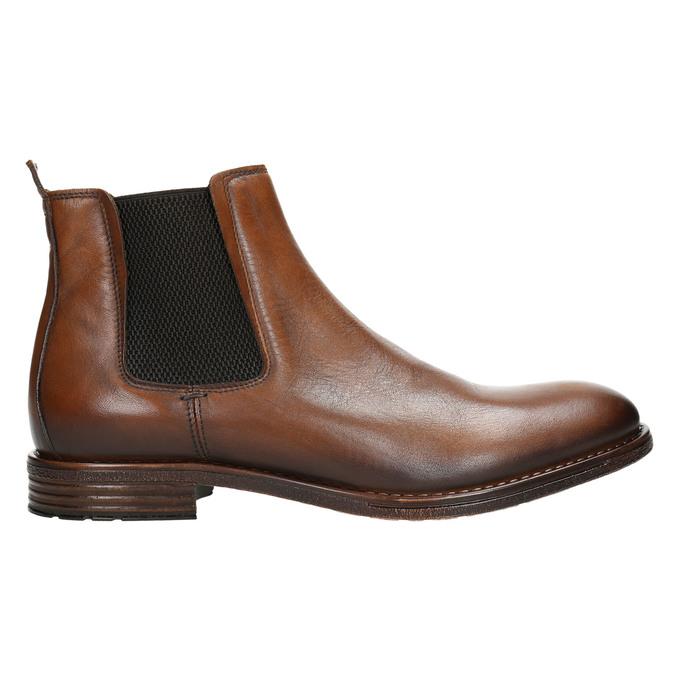 Brązowe skórzane obuwie typu chelsea bata, brązowy, 896-3673 - 15