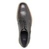 Nieformalne skórzane półbuty zfakturą bata, szary, 826-2612 - 19