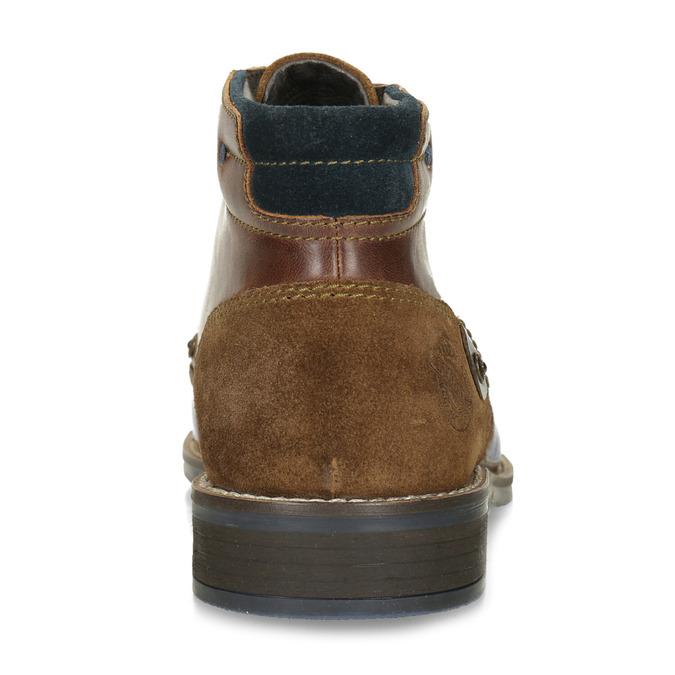 Skórzane buty męskie za kostkę bata, brązowy, 826-3611 - 15