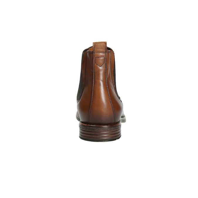 Brązowe skórzane obuwie typu chelsea bata, brązowy, 896-3673 - 17