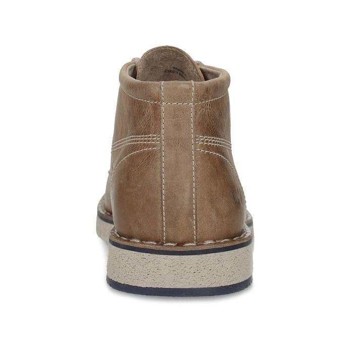 Skórzane buty za kostkę na kontrastowej podeszwie weinbrenner, brązowy, 846-4658 - 15