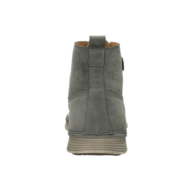 Skórzane buty męskie za kostkę weinbrenner, szary, 846-2656 - 16