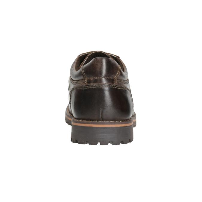 Nieformalne półbuty ze skóry bata, brązowy, 826-4640 - 16