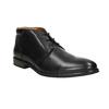 Skórzane buty męskie za kostkę bata, czarny, 824-6913 - 13