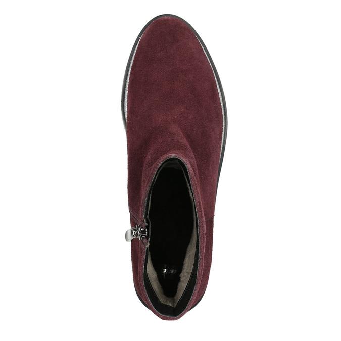 Zamszowe botki bata, czerwony, 593-5603 - 26