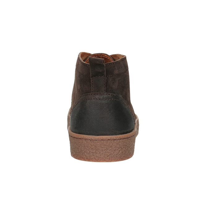 Skórzane buty męskie za kostkę bata, brązowy, 846-4653 - 16