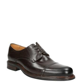 Brązowe nieformalne półbuty ze skóry bata, brązowy, 826-4914 - 13