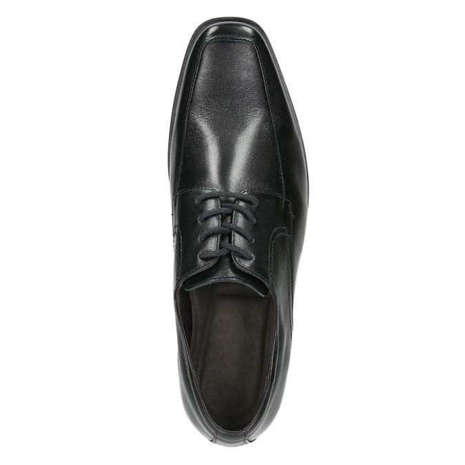 Czarne półbuty ze skóry bata, czarny, 824-6600 - 26