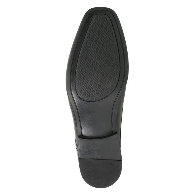 Skórzane loafersy męskie bata, czarny, 814-6623 - 19