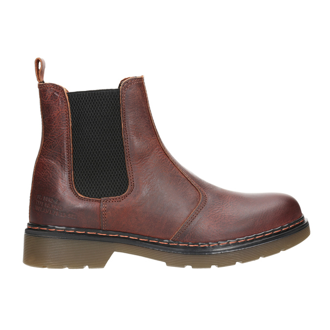 Skórzane obuwie damskie typu chelsea bata, brązowy, 596-3680 - 26