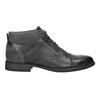 Skórzane buty za kostkę, zfakturą bata, szary, 826-2616 - 15