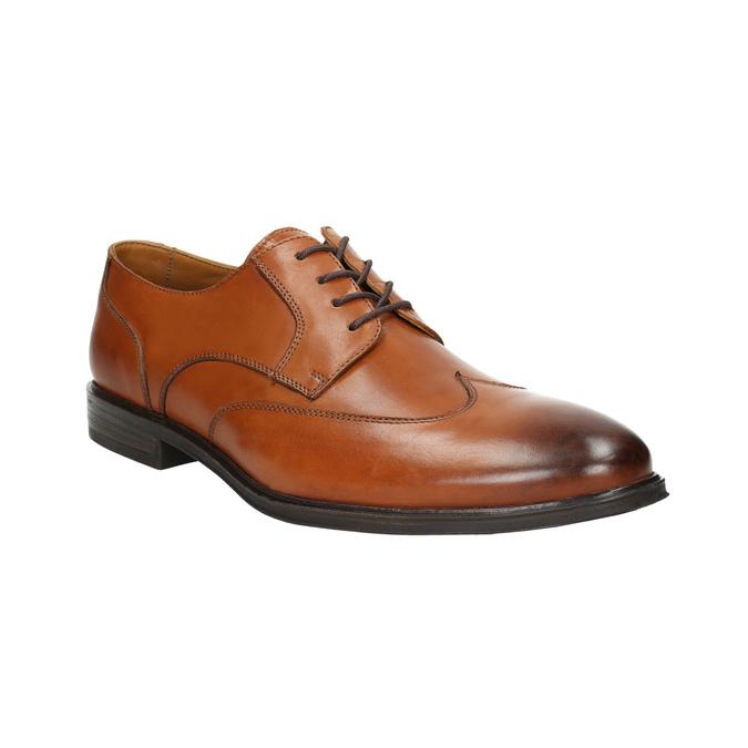 Skórzane półbuty męskie zefektem ombré bata, brązowy, 826-3914 - 13
