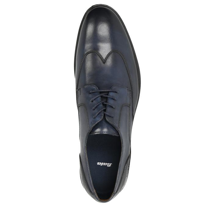 Granatowe skórzane półbuty męskie bata, niebieski, 826-9914 - 26