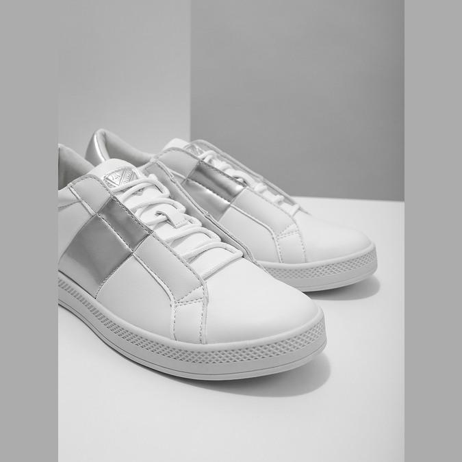 Damskie białe trampki, biały, 501-1171 - 14