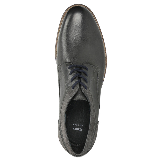 Nieformalne półbuty męskie bata, szary, 826-2610 - 26