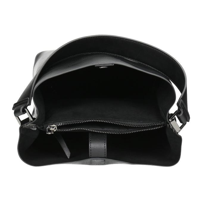 Czarna torebka zodpinanym paskiem bata, czarny, 961-2173 - 15
