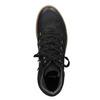 Skórzane sznurowane botki bata, czarny, 596-6673 - 15