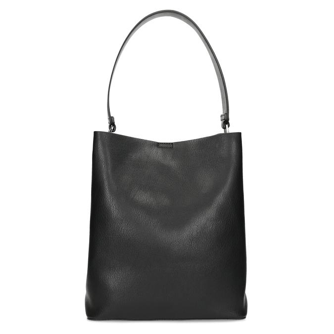 Czarna torebka zodpinanym paskiem bata, czarny, 961-2173 - 26