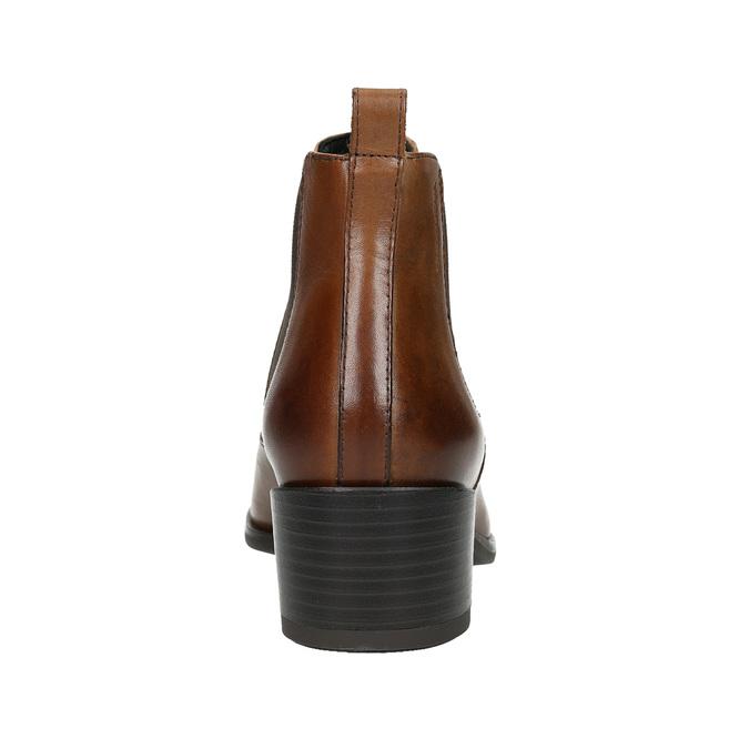 Skórzane buty damskie typu chelsea na obcasach vagabond, brązowy, 614-4020 - 17