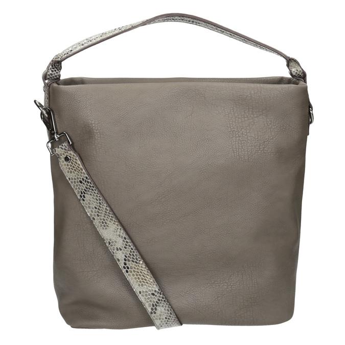 Skórzana torebka damska wstylu hobo, zpaskiem gabor-bags, brązowy, 961-8029 - 16
