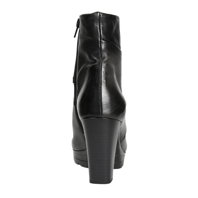 Skórzane botki damskie na słupkach bata, szary, 796-2650 - 16
