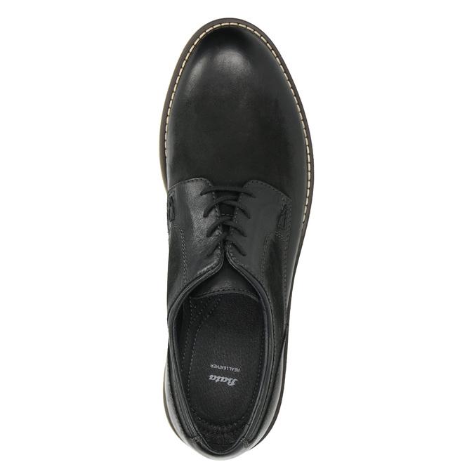 Skórzane półbuty męskie angielki bata, czarny, 826-6620 - 26