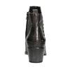Skórzane botki zmetalowymi ćwiekami bata, czarny, 696-6652 - 16