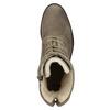 Damskie skórzane buty sznurowane bata, szary, 596-2663 - 26