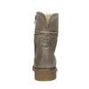 Damskie skórzane buty sznurowane bata, szary, 596-2663 - 17