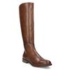 Brązowe skórzane kozaki bata, brązowy, 594-4637 - 13